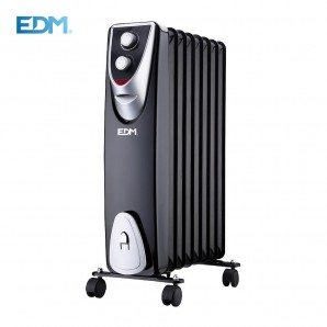 "Radiator ""BLACK EDITION"" WITHOUT OIL 8 ELEMENTS 500/1.000/1.500 W EDM 07127"