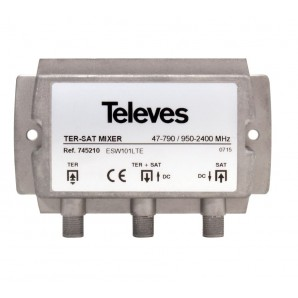 Distributors of TV - Mixer terrestrial and satellite signal Televes 745210