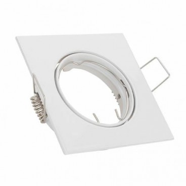 White square square recessed ring for GU10 GSC 0700662 LED bulb