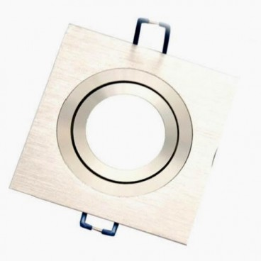 Square recessed aluminum recessed ring for LED bulb GSC 0701953