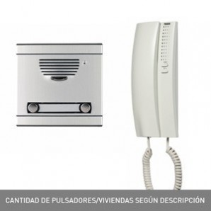 Kit portieri e video door entry system - Kit portiere a1 c/piastra+telefono s. 7 TEGUI 375011