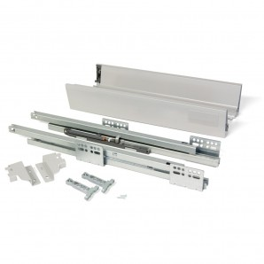 Comprar Emuca Vantage-Q drawer kit, height 83 mm and depth 450 mm in metallic grey colour online