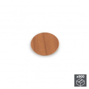 Batch of 900 Emuca D. 20 mm adhesive covers with a cherry wood effect finish