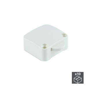 Batch of 10 Emuca door switches in white plastic