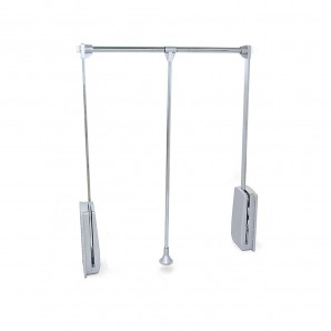 Interior organization of closets and walk-in closets - Emuca Hang folding hanger with a 830-1150 mm adjustable width with chrome finish