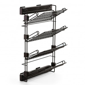 Comprar Emuca Moka pull-out lateral shoe rack for assembly on the left-hand side with a mocha painted finish online