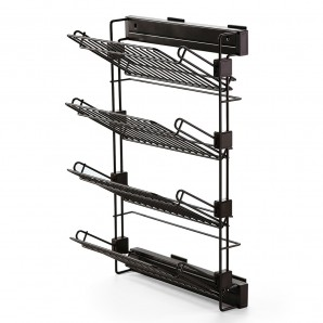 Comprar Emuca Moka pull-out lateral shoe rack for assembly on the right-hand side with a mocha painted finish online