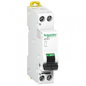 Switch miniature circuit breaker DPN 1P+N 25A Schneider A9N21647