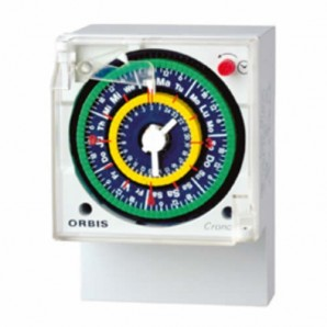 Switch hours analog 24-hour CLOCK QRD Orbis 050623