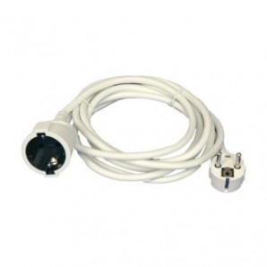 Prolongador blanco 3x1.5mm 5 metros 3500W GSC 0100043