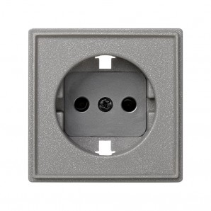 Tapa base de enchufe gris esmeril s.27 scudo SIMON 2705041-063