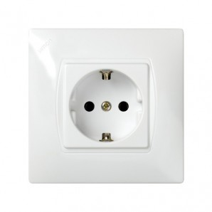 Simon 27 Neos - Base de enchufe MONOBLOCK 2P+TT blanco Simon 27462-65