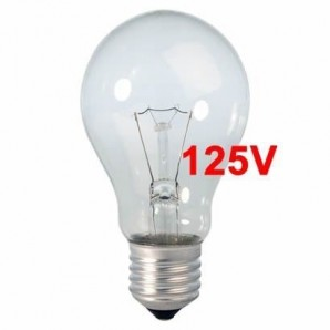 Incandescent bulbs 125V - Bombilla incandescente 125V estandar 25W E27