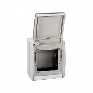 Bases and frames - Box empty grey ip55 with cover, SIMON 4490783-035