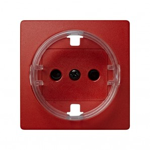 Cover base schuko with shutter (red) SIMON 73041-67