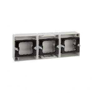 Base caja estanca 3 elementos horizontal SIMON 4400765-035