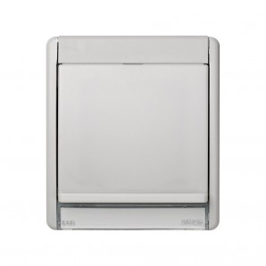 Frame with lid neutral translucent to beacon 75370-39 SIMON 4400036-102
