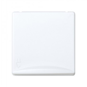 2P + TT plug base with wide cover Simon 27 WHITE 27490-35