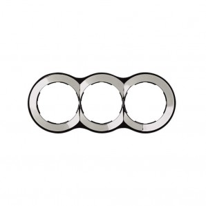 Mark Simon 88 - Frame 3 elements round chrome 100x242 SIMON 88 88630-33