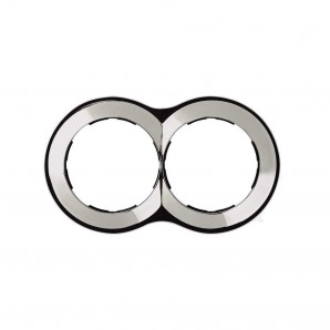 Mark Simon 88 - Frame 2 elements round chrome 100x171 SIMON 88 88620-33