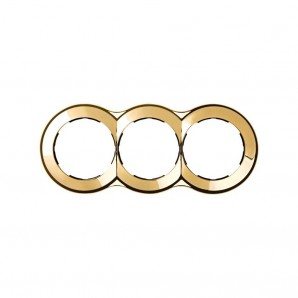 Mark Simon 88 - Frame 3 elements round gold 100x242 SIMON 88 88630-36