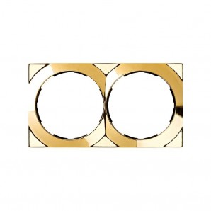 Mark Simon 88 - Framework 2-element square gold 85x156 SIMON 88 88622-36