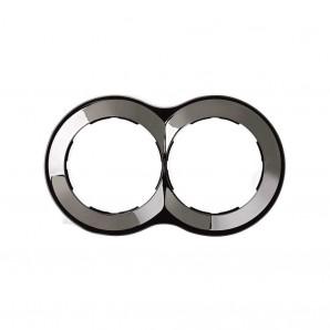 Marco 2 elementos redondo acero 100x171 SIMON 88 88620-35