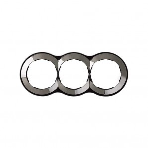 Mark Simon 88 - Frame 3 elements round steel 100x142 SIMON 88 88630-35