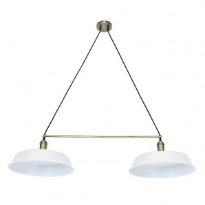 "Ceiling lamp ""PARIS"" 2-light matte white CRISTALREDORD 99-249-27-000"