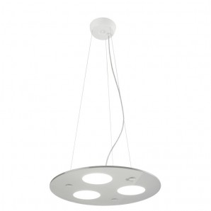 Lámpara de techo LED MOON LUX PENDANT LIGHT BLANCO CRISTALRECORD 99-663-36-100