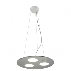 Lámpara de techo LED MOON LUX PENDANT LIGHT GRIS CRISTALRECORD 99-663-36-181