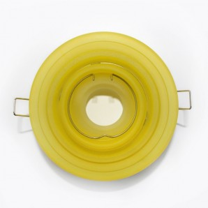 Recessed rocker round tiered yellow glass CRISTALREDORD 10078002800