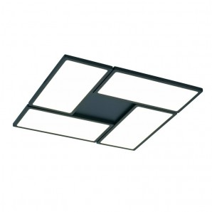 Plafón LED 60W, 3000K dimmable NEW OR negro CRISTALREDORD 26-884-60-180