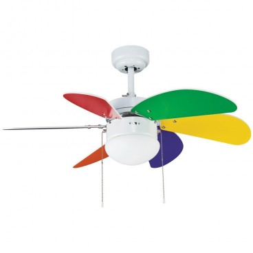 Fan 6 blades 76cm - Tabit multicolored CRISTALREDORD 85-790-06-666