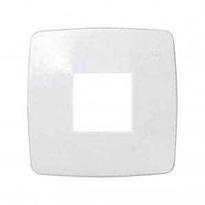 Frame 1 element square opening 80x80 white 32610-31