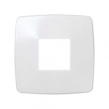 1-element frame with square opening 80x80 white Simon 32 32610-31