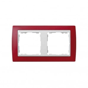 Transluc elements frame 2 red white pedestal SIMON 82623-37