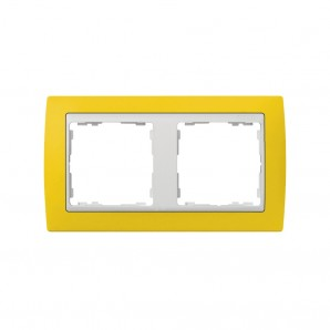 Frame 2 yellow white SIMON socket elements 82622-62