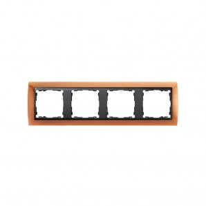 old frame 4 elements copper graphite socket SIMON 82844-36