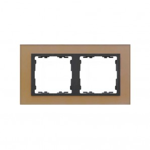 Frame 2 elements copper crystal nature SIMON 82827-34