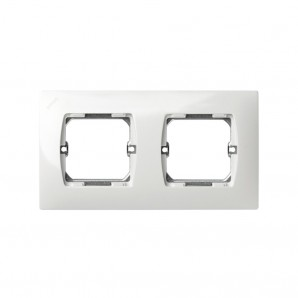 Frame 2 elements WHITE Simon 27 27620-65