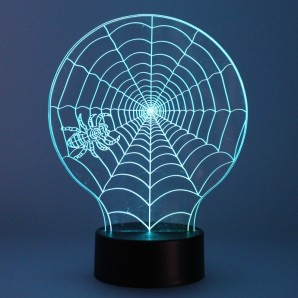 Table lamp 3D spider web CR 05-789-01-777