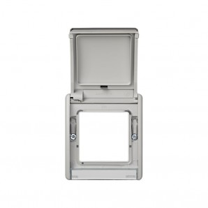 Simon frame with hinged lid 44 Aqua IP55