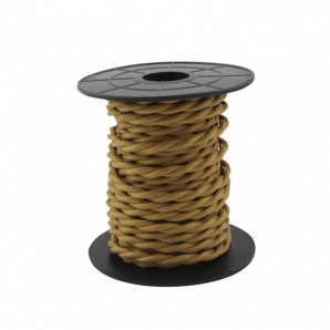 Comprar Electrical wire / textile 10 m 2x0.75mm twisted Brown GSC 3902983 online