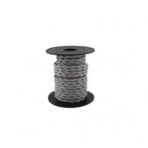 Electrical Cable twisted - Electrical wire / textile 10 m 2x0.75mm twisted light Gray GSC 3902979