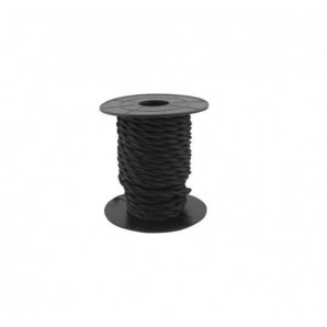 Electrical Cable twisted - Electrical wire / textile 10 m 2x0.75mm twisted dark Grey GSC 3902978