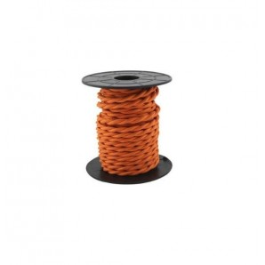 Electrical Cable twisted - Electrical wire / textile 10 m 2x0.75mm twisted Orange GSC 3902984