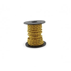 Comprar Electrical wire / textile 10 m 2x0.75mm twisted Gold GSC 3902982 online