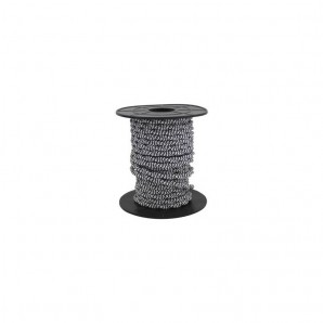 Electrical wire / textile 10 m 2x0.75mm twisted Black/White GSC 3902986