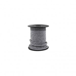 Electrical wire / textile 10 m 2x0.75mm Black/Grey GSC 3902987
